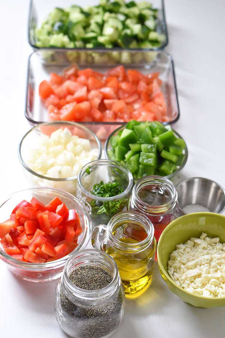 how to make Shopska Salad