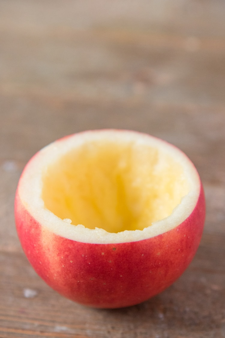 apple bowl for caramel apple dip
