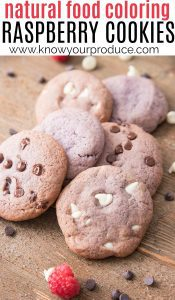 natural food coloring raspberry cookie recipe
