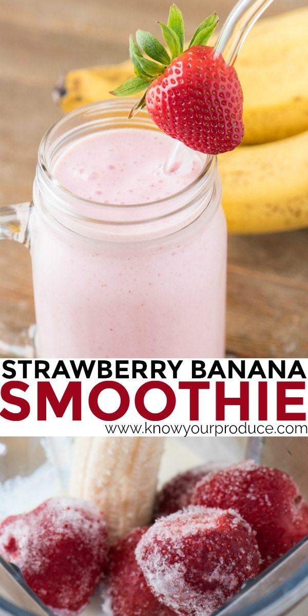 strawberry banana smoothie pinterest