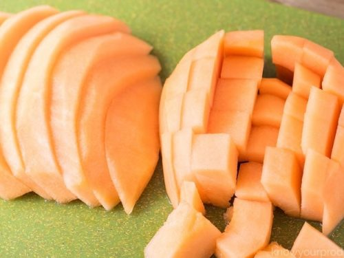 How To Cut A Cantaloupe Video And Photos Know Your Produce Cantaloupe, cucumis melo, is a vining plant in the family cucurbitaceae, grown for its large, sweet cantaloupe vines are trailing and are slightly hairy with simple oval leaves arranged alternately on the. how to cut a cantaloupe
