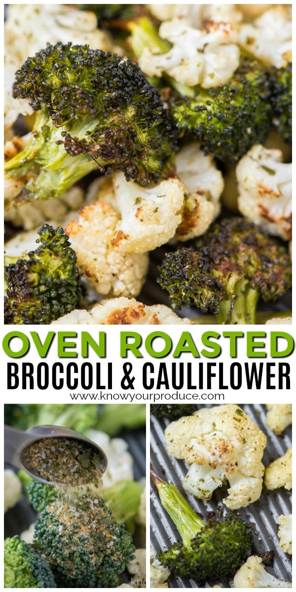 oven roasted broccoli and cauliflower side dish recipe