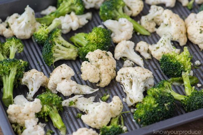 how to roast broccoli and cauliflower
