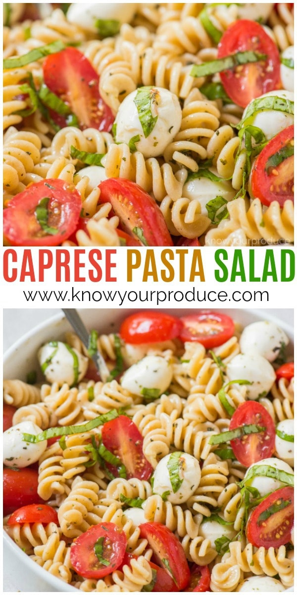 easy caprese pasta salad recipe