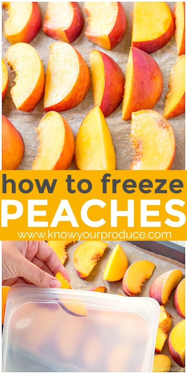 Learn how to freeze peaches that are perfect for peach recipes or just frozen peaches to snack on. How to freeze peaches the easy way without sugar!