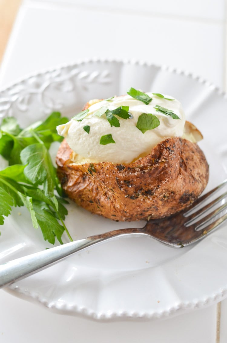 air fryer baked potato courtneyssweets.com