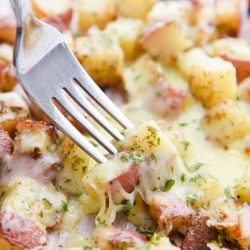 Roasted Red Potatoes with Mozzarella