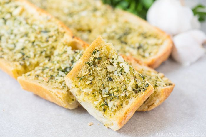 homemade vegan garlic bread