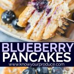 Blueberry Pancakes with fresh blueberries is a must make breakfast recipe. Double the batch to have extras to freeze for later.
