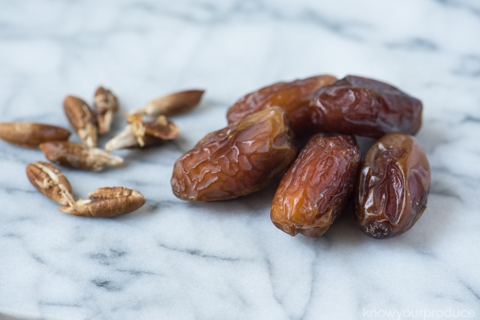 dates and date seeds on a marble board