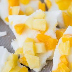Frozen Yogurt Bark – Mango Pineapple