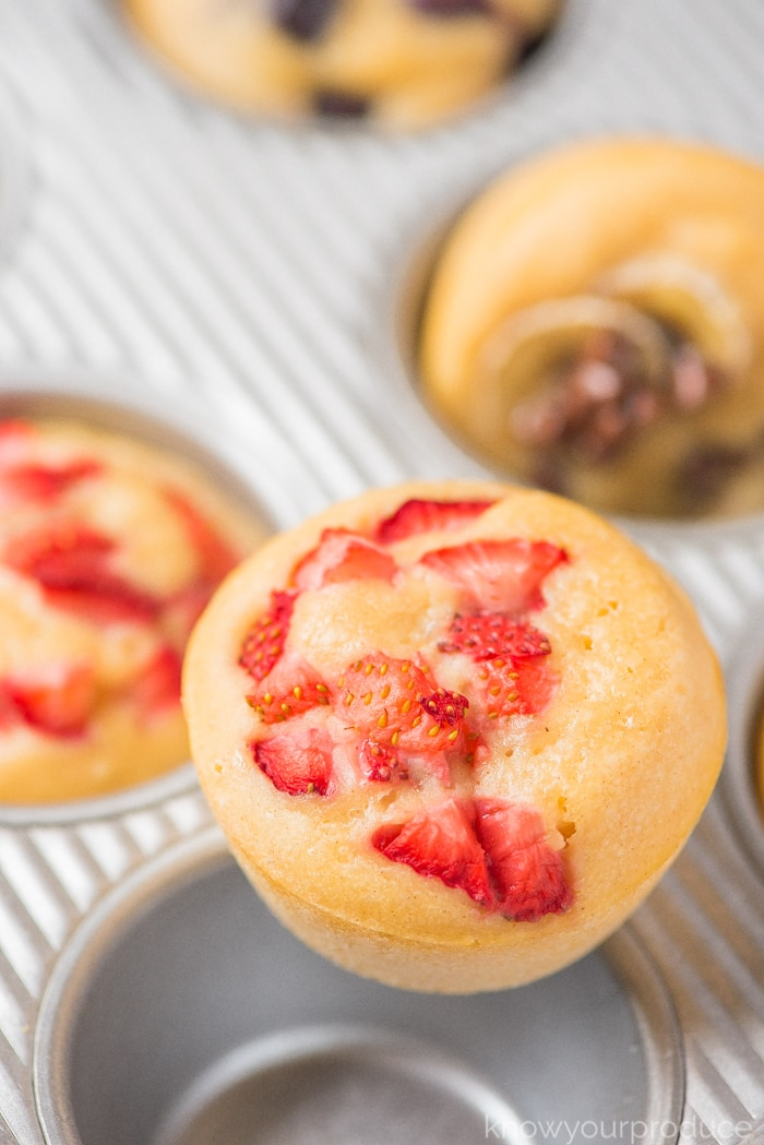 pancake muffins on a muffin tin