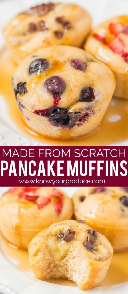 pancake muffins made from scratch grab and go breakfast recipe