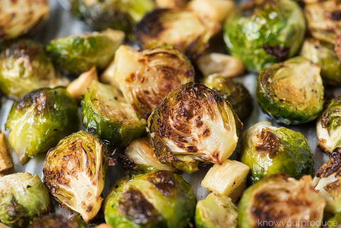 oven roasted brussels sprouts with garlic