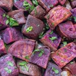 Roasted Purple Sweet Potatoes