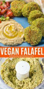 vegan falafel baked using chickpeas freezer friendly