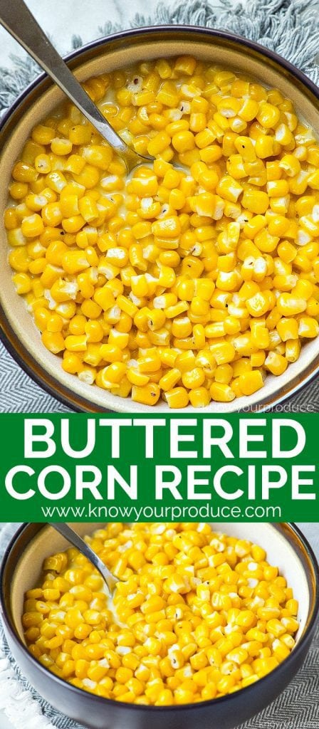 buttered corn vegetarian side dish recipe