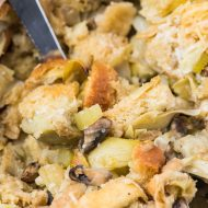 Vegan Stuffing with Mushrooms and Artichokes