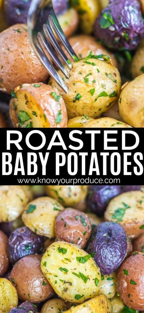 Roasted Baby Potatoes with Garlic and Parsley side dish recipe