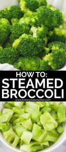 how to steam broccoli - perfect steamed broccoli florets and stalk