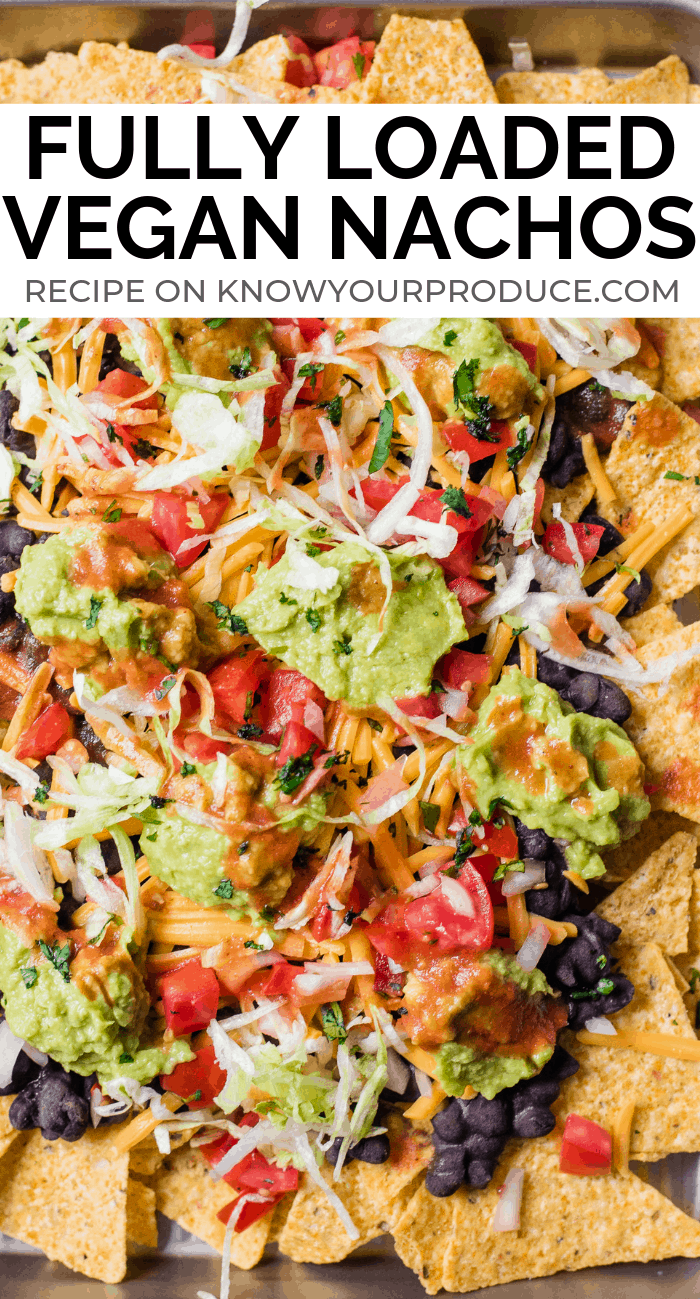 Vegan Nachos with Black Beans - Sheet Pan Appetizer for Cinco de Mayo