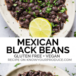 Mexican Black Beans recipe - good for tacos, burritos, or just rice and beans! Vegan + Gluten Free.