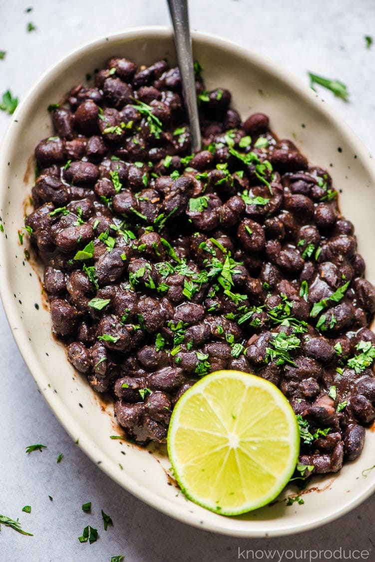 mexican black beans in bowl