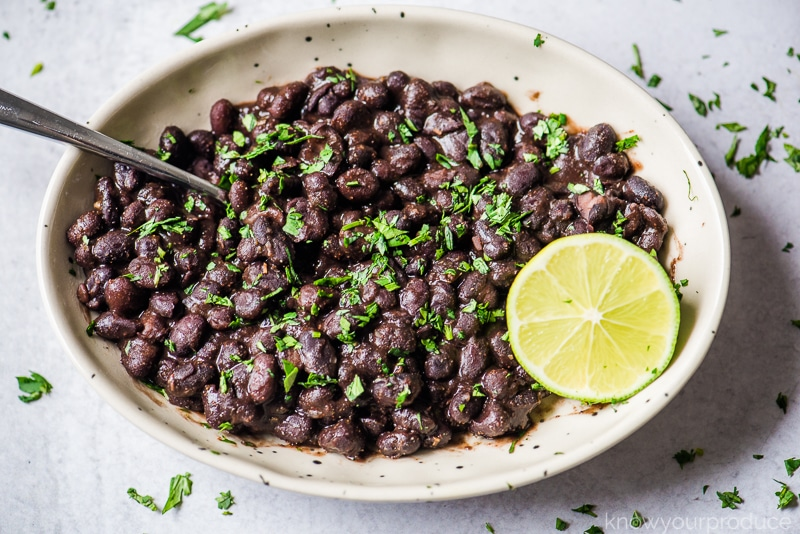 cooked black beans in a bowl
