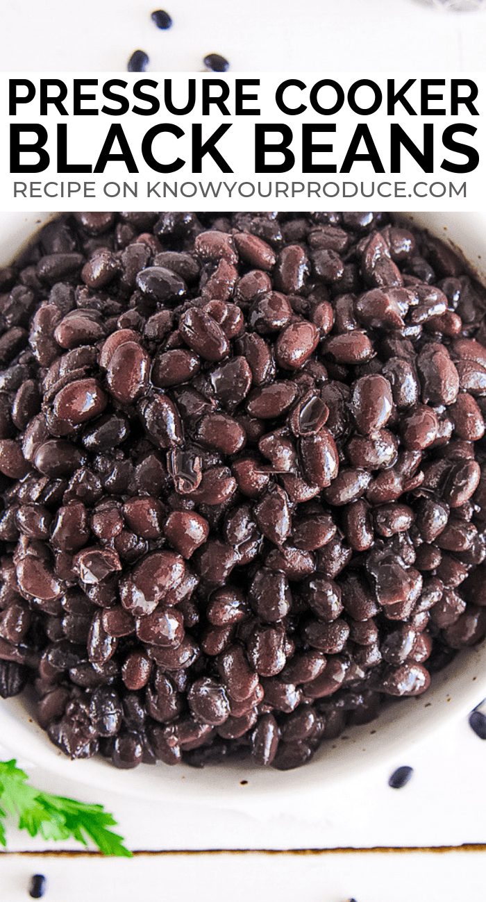 pressure cooker black beans recipe using dry black beans - enjoy as a side dish or in your favorite bean recipes