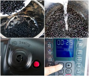 step by step photos of pressure cooker black beans
