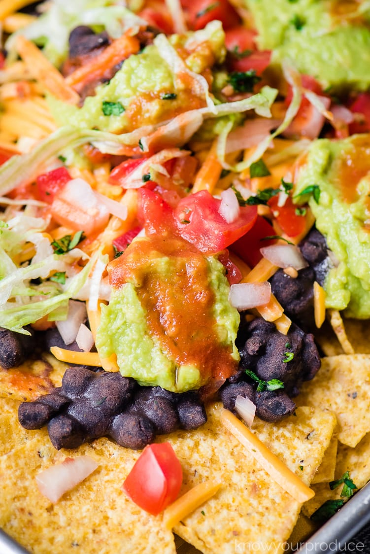 vegan nachos with black beans