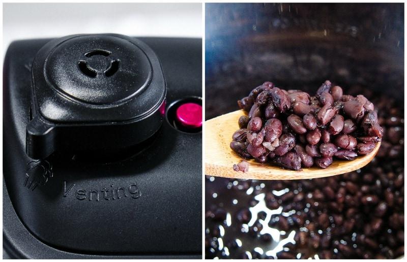 venting pressure cooker black beans