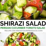 shirazi salad - healthy persian cucumber tomato salad side dish