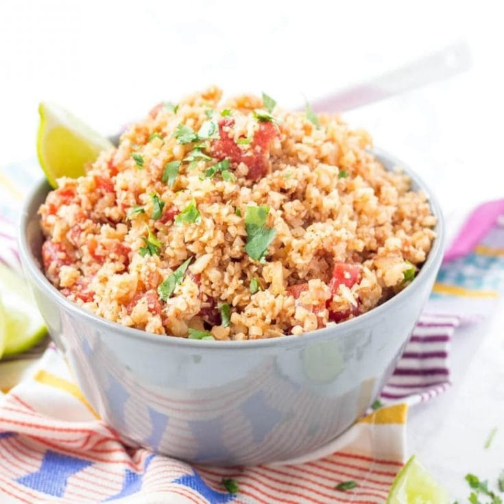 Easy Keto Mexican Cauliflower Rice Skillet Recipe