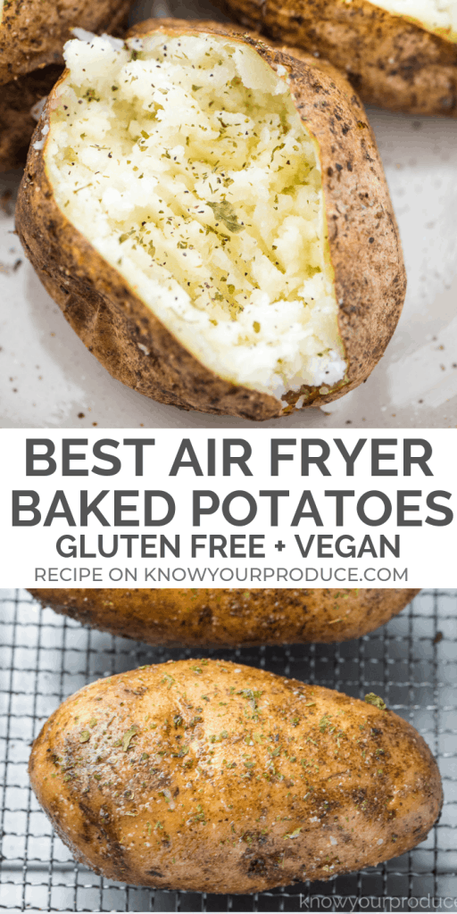 air fryer baked potatoes - the best baked potatoes made in the cuisinart air fryer toaster oven