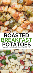 Roasted Breakfast Potatoes with Peppers and Onions just like the diner makes! Great for breakfast and brunch parties.
