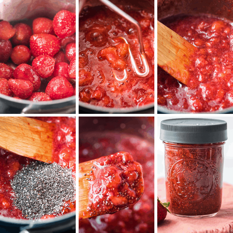 how to make chia seed jam step by step photos