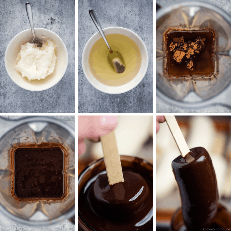 step by step photos making vegan chocolate