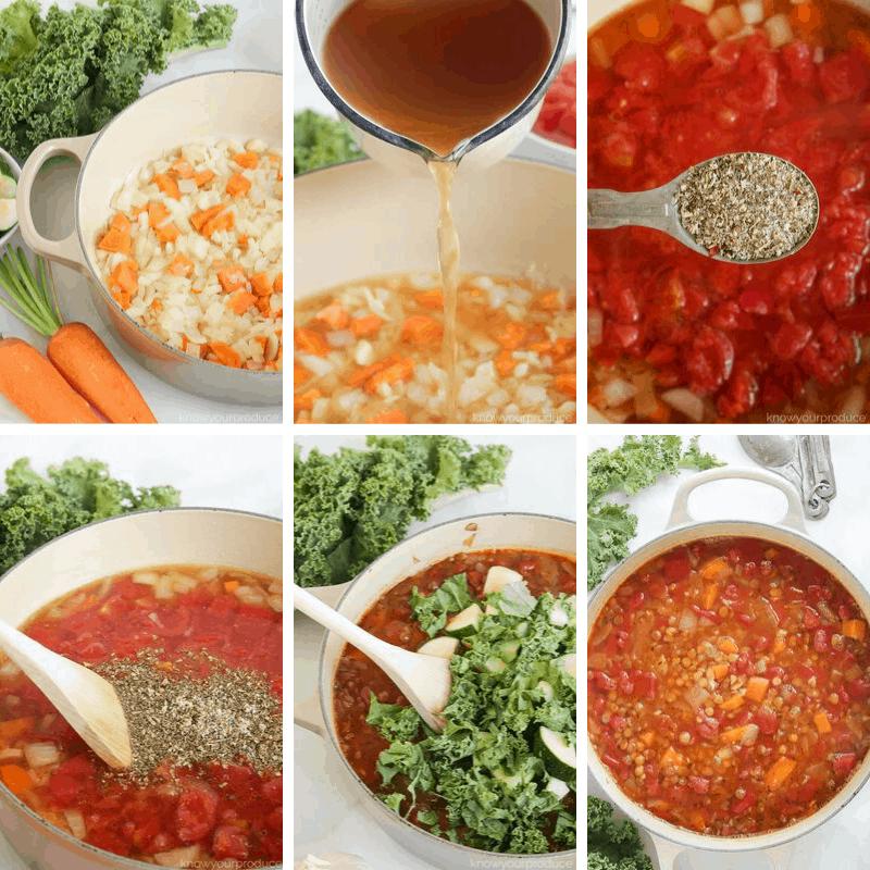 step by step photos lentil soup recipe