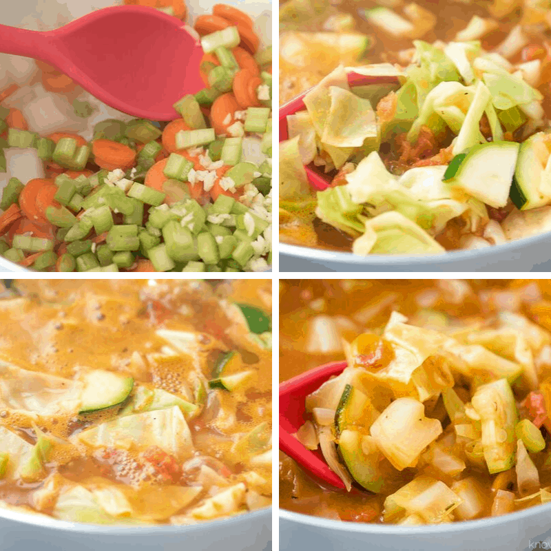 how to make cabbage soup step by step photos