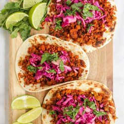 Vegan Cauliflower Tacos with Mushrooms