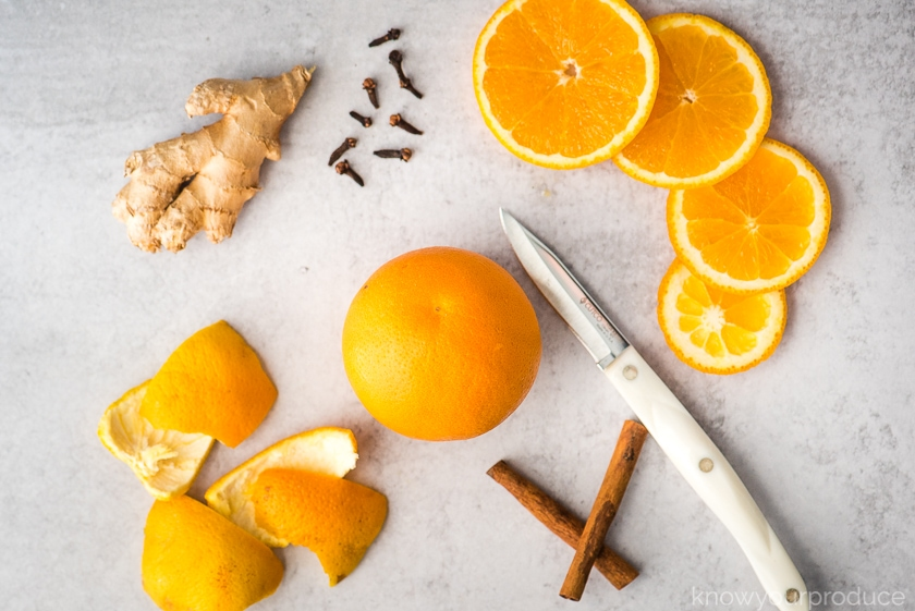 orange cinnamon simmer pot ingredients