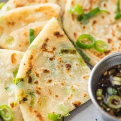 Scallion Pancakes with Dipping Sauce aka Cong You Bing (Video)
