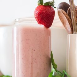 Strawberry Banana Peanut Butter Smoothie